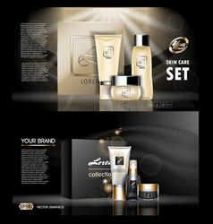 digital golden and black skin care cream vector image