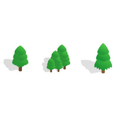 fir tree icon set isometric style vector image vector image