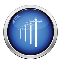 High voltage line icon vector image vector image