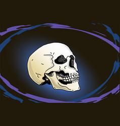 Levitating human skull vector