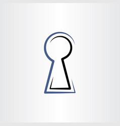 Lock hole line icon sign vector