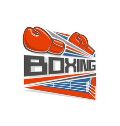 Logo of a boxing vector