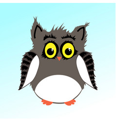 Male fluffy owl vector