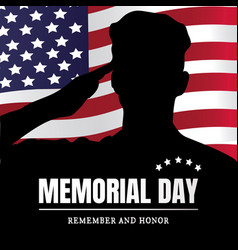 Memorial day usa remember and honor vector