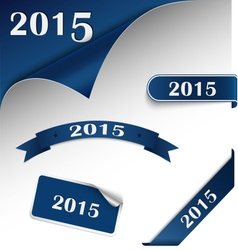 New year blue card web element vector