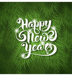 New Year greeting card vector image