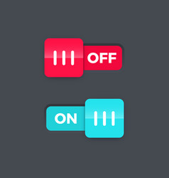 on off switch slider vector image