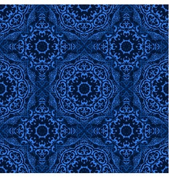 Seamless pattern with abstract blue element vector