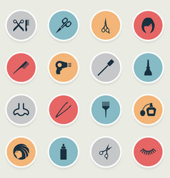 Set of simple spa icons vector