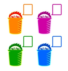 Shy Recycle bin vector image