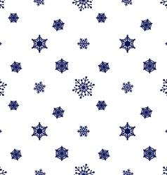 Snowflake dark blue white background vector