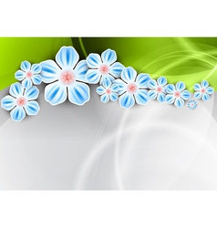 Spring background with the green wave vector