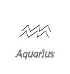 The water-bearer aquarius sing star constellation vector