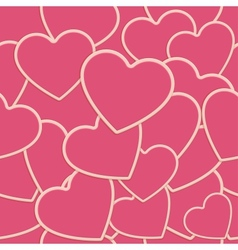 Tile Heart Background One vector image vector image