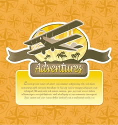 travel emblem vector image vector image