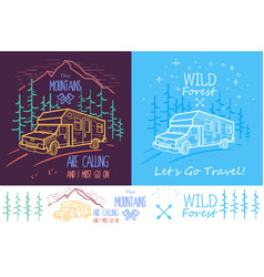 trendy collection of two with trees vector image vector image