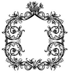 Vintage royal frame vector