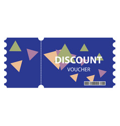 Voucher background design vector