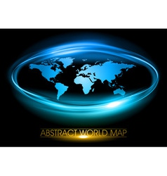world abstract circle vector image vector image