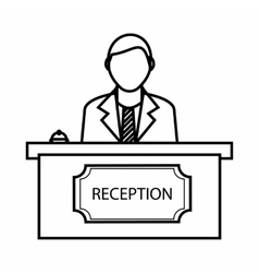 Reception icon outline style vector