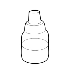 Bottle with pipette for vaping icon outline style vector