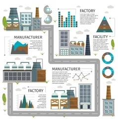 Industrial Buildings Infographic vector image
