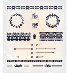 set of abstract decorative pattern design vector image