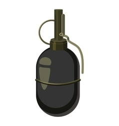 Grenade icon cartoon style vector