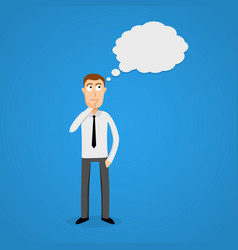 business man with thinking cloud vector image