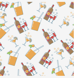 drink seamless pattern vector image