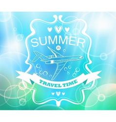 Blue tender summer background vector