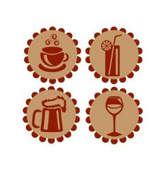 Icons featuring drinks vector