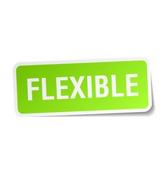 Flexible square sticker on white vector