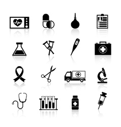 Medical equipment icon black vector