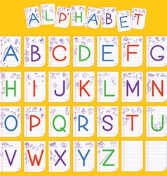 Child english alphabet vector