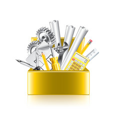 Engineer tools box isolate vector