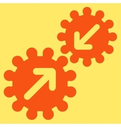 Integration icon from business bicolor set vector