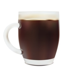 Beer in mug vector