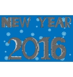 New 2016 on background snowflake vector