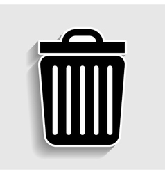 Trash sign sticker style icon vector