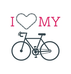 Love bike card 3 vector