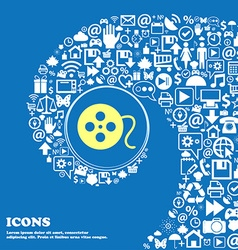 Film icon nice set of beautiful icons twisted vector