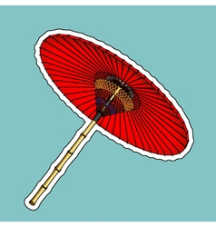 Traditional chinese red umbrella vector