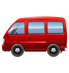 A red minivan vector