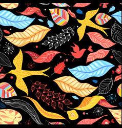 Autumn leaves pattern vector
