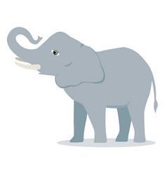 Cartoon elephant large concave back mammal vector
