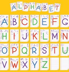 Child English alphabet vector image vector image