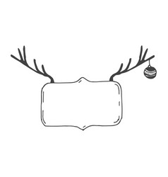 Christmas and new year postcard with deer vector