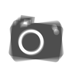 digital camera sign gray icon shaked at vector image