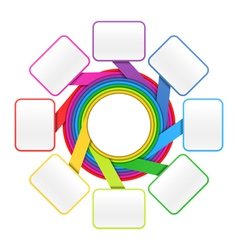 Eight elements circle vector image